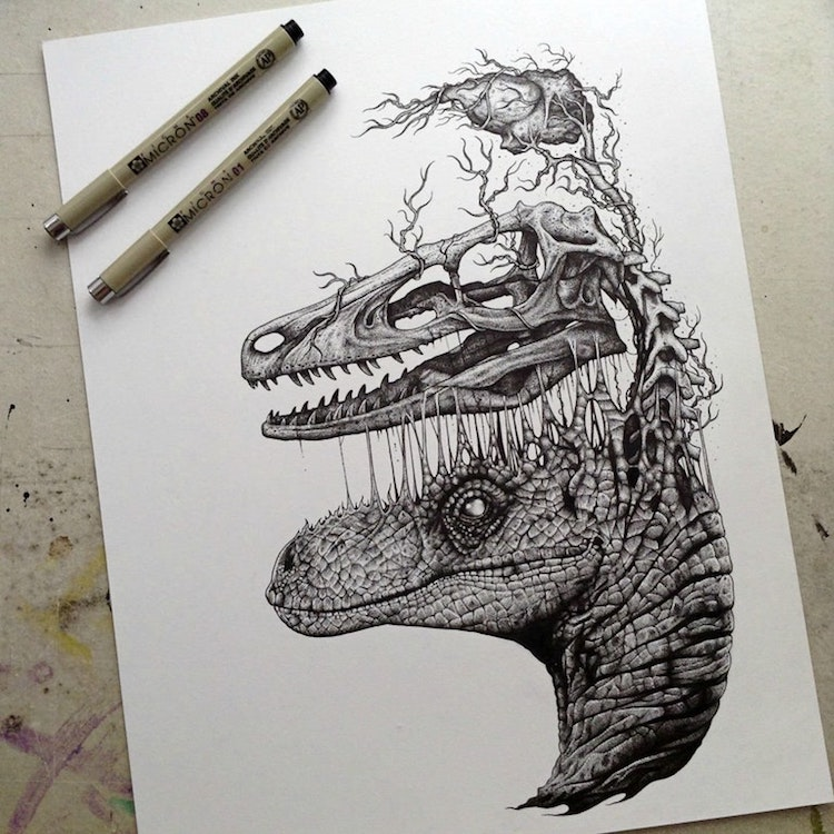 <a href=https://mymodernmet.com/paul-jackson-edgy-illustrations/ target=_blank >Artist Creates Edgy Illustrations Dissecting Anatomy of Dinosaurs and Other Animals</a>