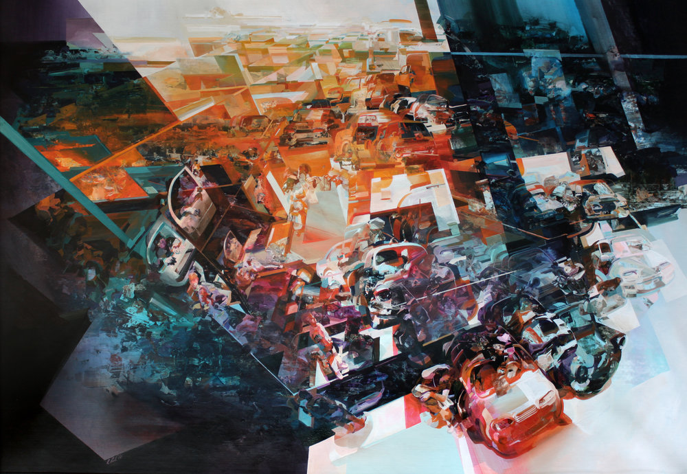<a href=http://feedproxy.google.com/~r/colossal/~3/0z-cfPF5hDI/ target=_blank >Narrative Dramas Unfold in Robert Proch's Multi-Dimensional Glitched Paintings and Murals</a>